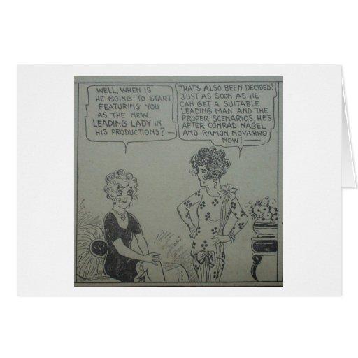 1920s Comic Strip Movie Starlets Customizable Card