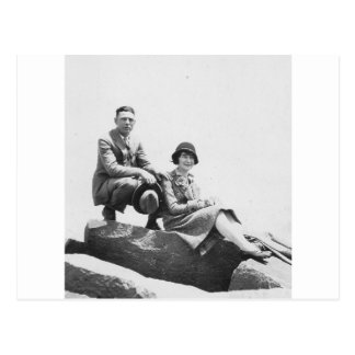 1920's Couple on Vacation Postcard