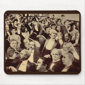 1920s crowd scene mouse pad
