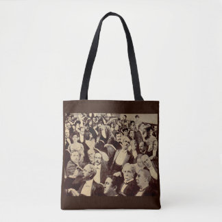 1920s crowd scene tote bag