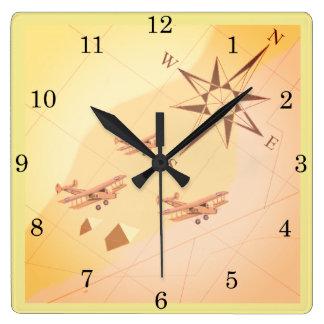 1920's Desert Flight Wall Clock