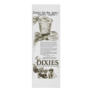1920s Dixie Cup of Ice Cream 5 cents advertisement Poster