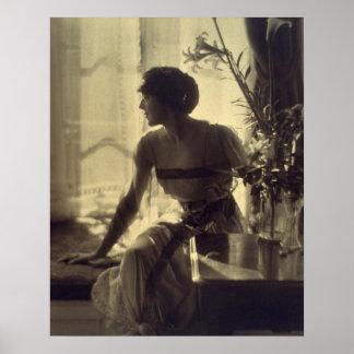 1920s Fashion Woman Elegant Dress Poster