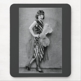 1920s Flapper Fashion Mouse Pad