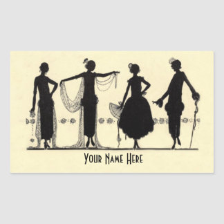 1920's Flapper Fashion Silhouette Stickers