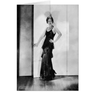 1920s Flapper Glamor Girl Photo Birthday Card