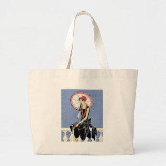 1920s Flapper with Umbrella Tote Bags