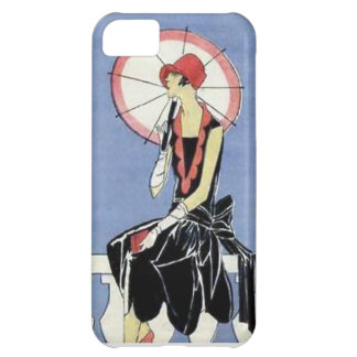 1920s Flapper with Umbrella iPhone 5C Case