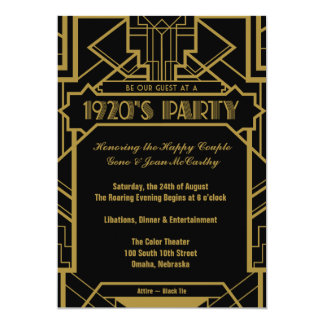 Gatsby Invitations & Announcements | Zazzle.com.au