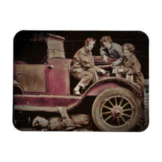 1920's Girl Auto Mechanics Rectangular Photo Magnet