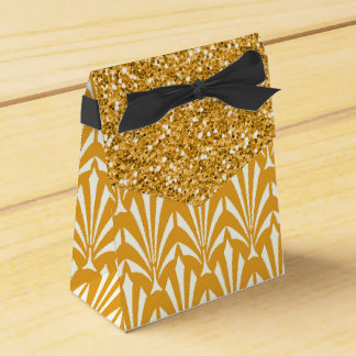 1920's Gold Glam Glitter Wedding Favor Gift Boxes Party Favour Boxes