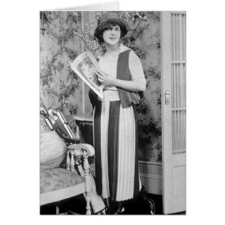 1920s Golf Fashion Card
