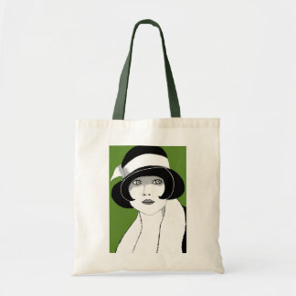 1920s Green Budget Tote Bag