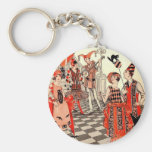 1920's Halloween Costume Party Basic Round Button Key Ring