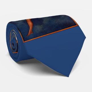 1920s hosiery ad beautiful woman on the moon tie