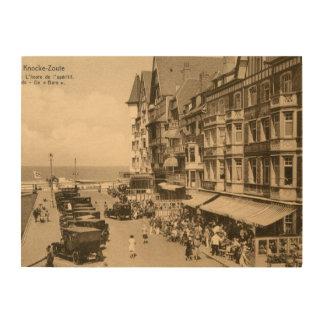 1920s Knokke Zoute The aperitif hour Wood Print