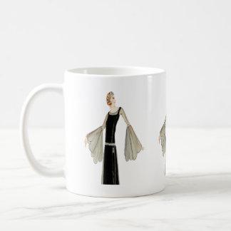 1920's Ladies Fashion Illustration Coffee Mugs