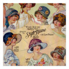 1920's Ladies Hat Fashions Poster