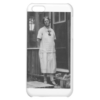 1920's Lady standing outside of building iPhone 5C Cover