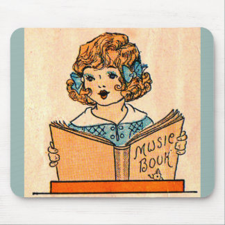 1920s little girl with music book mouse pad
