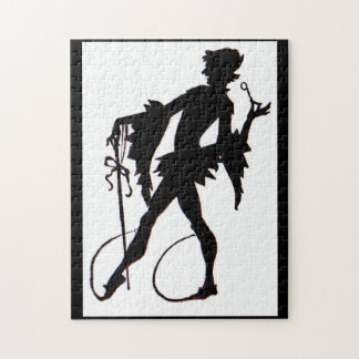1920s magician silhouette jigsaw puzzle
