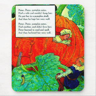 1920s Mother Goose - Peter Pumpkin Eater Mouse Pad