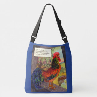 1920s Mother Goose - rooster Crossbody Bag
