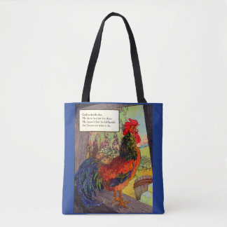 1920s Mother Goose - rooster Tote Bag