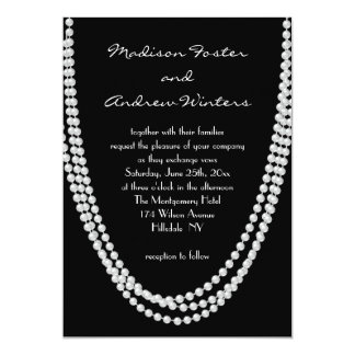 1920's Pearl Wedding Invitation