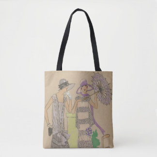 1920s Rain Or Shine Fashion Plates Tote Bag