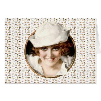 1920s Sailor Girl Bon Voyage Card