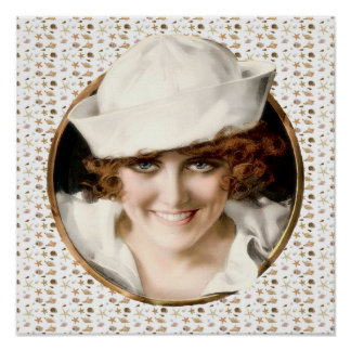 1920s Sailor Girl Poster