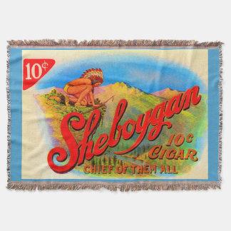 1920s Sheboygan cigar label print Throw Blanket