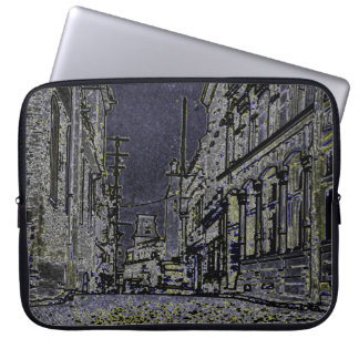 1920's Streets of  Quebec Canada Art Laptop Sleeve
