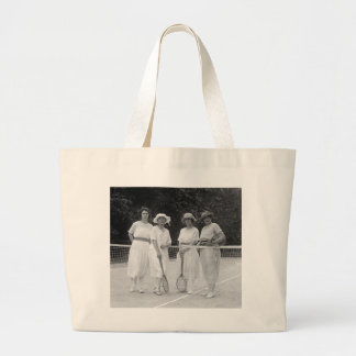 1920s Tennis Fashion Jumbo Tote Bag