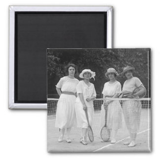 1920s Tennis Fashion Refrigerator Magnet