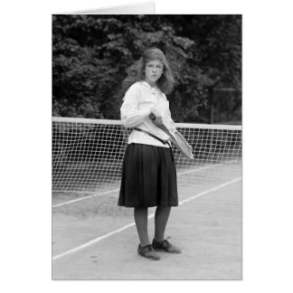 1920s Tennis Style Greeting Card