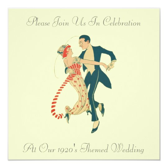 1920's Themed Wedding Invitations
