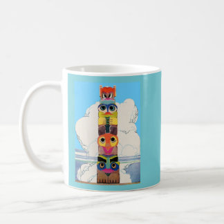 1920s totem pole coffee mug