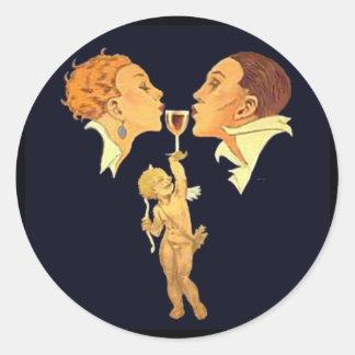 1920's Valentine Kiss Stickers