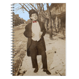 1920s vernacular photo classy young man notebooks