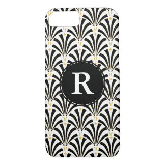 1920s Vintage Art Deco Black & White Fans iPhone 8/7 Case