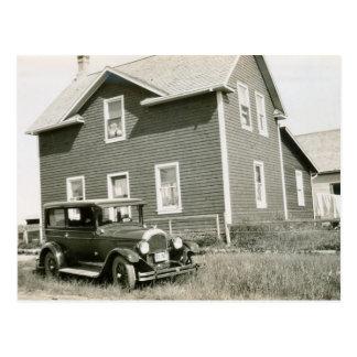 1920's Vintage Car Postcard