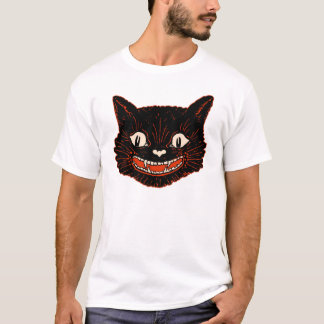 1920s Vintage Halloween Black Cat T-Shirt