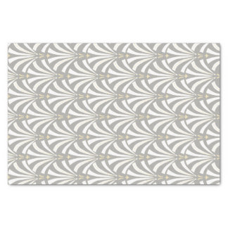1920s Vintage Style Art Deco White Palmettos Tissue Paper