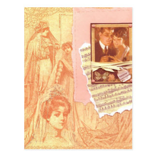 1920's Vintage Wedding Postcard