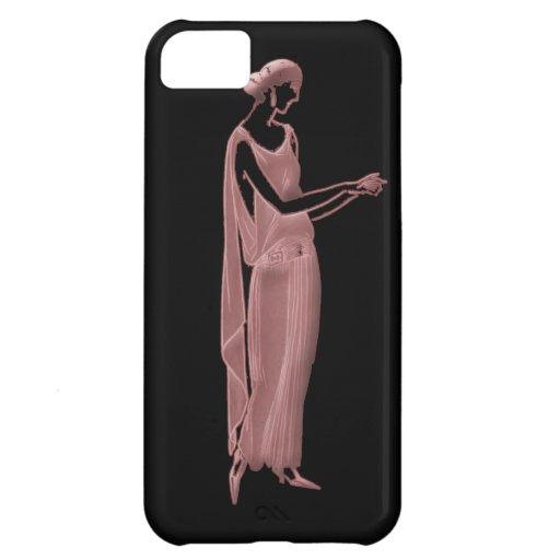 1920s Woman in Pink and Black Case For iPhone 5C