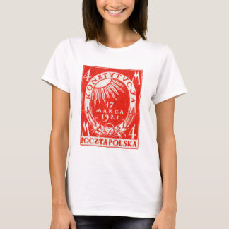 1921 4m Polish Postage Stamp T-Shirt