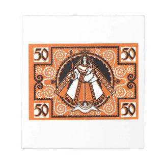1921 Grace of Kevelaer Notgeld Banknote Notepad