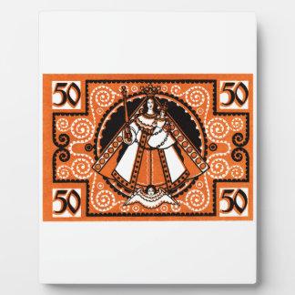 1921 Grace of Kevelaer Notgeld Banknote Plaque